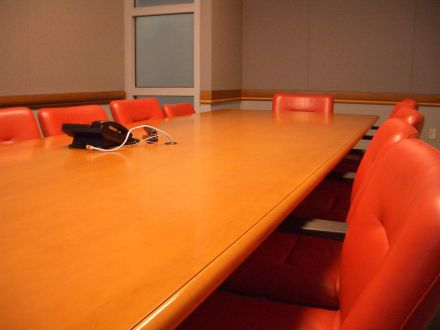 photo of a conference room table by fattytuna on Flickr
