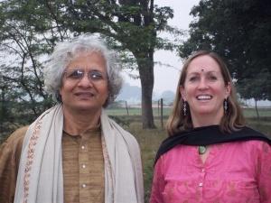 The Author, Maureen Hall, and Dr. Bal Ram Singh at Kuruom Vidyalaya