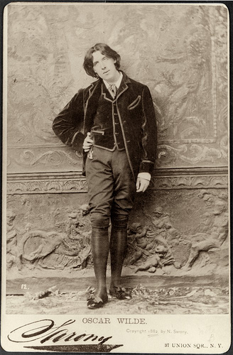 Photo of Oscar Wilde taken by Napoleon Sarony, January, 1882,